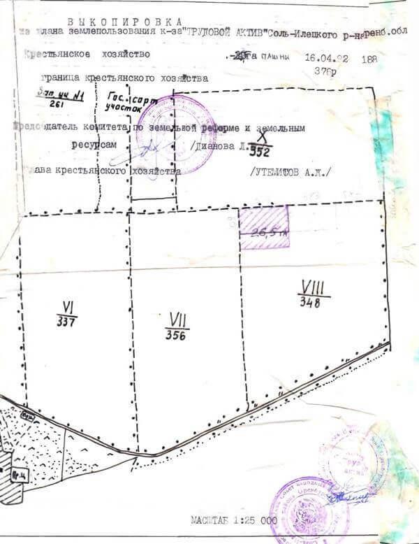 Пример № 4 Землеотводный документ