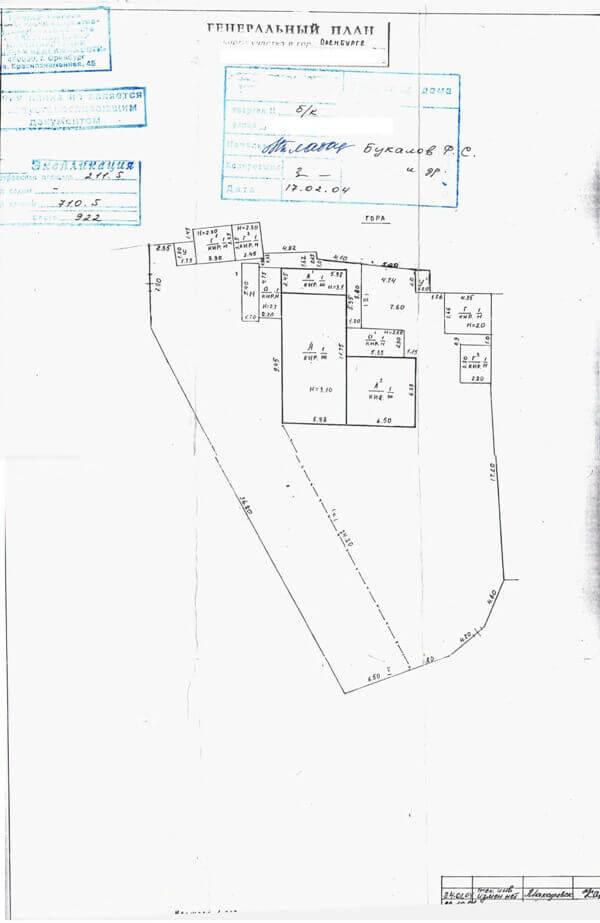 Порядок уточнения границ земельных участков Пример № 5 Генеральный план